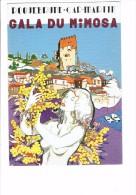 1987 - ILLUSTRATEUR LENZI - ROQUEBRUNE CAP MARTIN - GALA DU MIMOSA - EVE DANS LE JARDIN DE L´EDEN NUE Pin'up Seins Nus - Manifestazioni