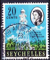 Seychellen - Leuchtturm, Denis Island/Lighthouse, Denis Iceland (Mi.Nr. 198) 1962 - Gest. Used Obl. - Seychelles (...-1976)