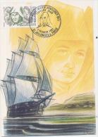 LE Soeur Anne-Marie JAVOUHEY Fondatrice Congrégation St-Joseph De Cluny  CARTE MAXIMUM - Segelboote