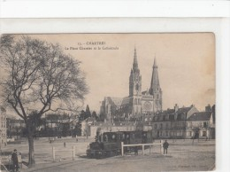 28 CHARTRES PLACE CHATELET  LA GARE TBE - Chartres