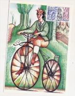 Vélocypède Ernest MICHAUX Inventeur Du Velo Bicycle  Bar Le Duc  CARTE MAXIMUM - Cartoline