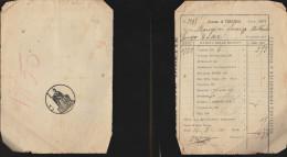 DOC1) GENOVA COMUNE DI TORRIGLIA 1907 IMPOSTA TERRENI - Italia