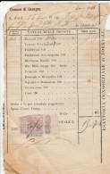 DOC1) GENOVA COMUNE DAVAGNA IMPOSTA SUI TERRENI 1911 INSOLITO DOCUMENTO MARCA DA BOLLO DIMENSIONI 10,5 X 17 Cm - Italia