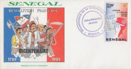 Enveloppe  1er  Jour   SENEGAL   Bicentenaire  De  La   REVOLUTION   FRANCAISE    1989 - Révolution Française