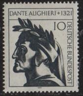 PIA - GER - 1971 - 650° Anniversario Della Morte Di Dante Alighieri -  (Yv 549) - BRD