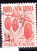 Papua-Neuguinea - Zweig Des Kakaobaumes Mit Früchten (Theobroma Cacao)  (Mi.Nr. 8) 1958 - Gest. Used Obl. - Papua New Guinea
