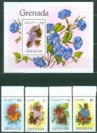 Grenada 1982 Butterflies And Flowers MNH** - Lot. A20 - Grenade (1974-...)