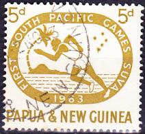 Papua-Neuguinea - Sprinter, Kreuz Des Südens (Mi.Nr. 50) 1963 - Gest. Used Obl. - Papua New Guinea
