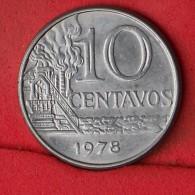 BRAZIL  10  CENTAVOS  1978   KM# 578,1a  -    (Nº13334) - Brésil