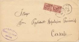Arpino. 1903. Annullo Grande Cerchio, Su Lettera + Ovale Sindaco Del Comune Di Arpino. - Marcofilía
