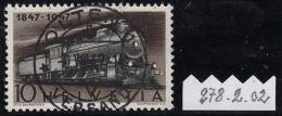 Olten / Rundvolles Stempel /  Locomotive, Timbre N° 278 Avec Variété / Abarte 278.2.02 / Oblitération Pleine - Usati