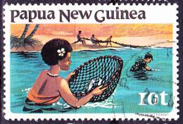 Papua-Neuguinea - Fischen Mit Handnetz/Fishing With Handynetz (Mi.Nr. 418) 1981 - Gest. Used Obl. - Papua New Guinea