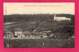 27 EURE TOUFFREVILLE, Vue Sur L'Eglise Et Les Maisons Environnantes, 1915, (A. Lavergne, Vernon) - Autres Communes