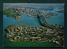AUSTRALIA  -  Sydney  Aerial Panorama  Used Postcard As Scans - Sydney
