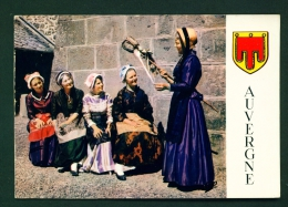 FRANCE  -  Auvergne  Traditional Costumes  Used Postcard As Scans - Costumes
