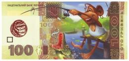 UKRAINE. 2016 - YEAR OF MONKEY. 100 UAH. MONKEY - A FISHERMAN. Funny Pocket Calendar - Calendars