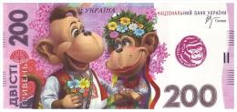 UKRAINE. 2016 - YEAR OF MONKEY. 200 UAH. MONKEYS FAMILY IN TRADITIONAL COSTUMES. Funny Pocket Calendar - Calendars