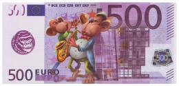 UKRAINE. 2016 - YEAR OF MONKEY. 500 EUR. MONKEY MUSICIANS. Funny Pocket Calendar - Calendars