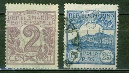 Chiffre 2 - Mont Titan - SAINT MARIN - SAN MARINO - 1903 - Oblitérés