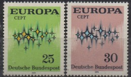 PIA - GERMANIA - 1972 :  Europa  (YV 567-68) - Europa-CEPT