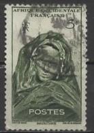 AOF 1947 Mauritanian Woman -   5f. - Green  FU - A.O.F. (1934-1959)