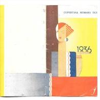 1936 - Copertina Calendario Con  Figura Femminile E Ritratto Rodolfo Valentino ? - Formato Piccolo : 1921-40