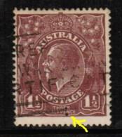 AUSTRALIA   Scott # 24 VF USED PERFIN - 1913-36 George V: Heads