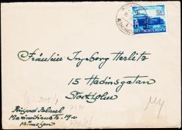 1941. 25 Pf. Leipziger Messe MÜNCHEN 25.6.41. To Stockholm, Schweden. Geöffnet Oberkomm... (Michel: 767) - JF190021 - Deutschland