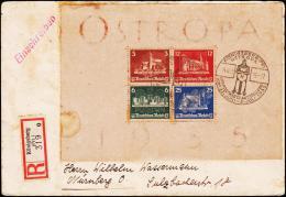1935. OSTROPA Block KÖNIGSBERG (PR) OSTROPA INT POSTWERTZ AUSSTELLUNG 24.6.35. Rec. To ... (Michel: Block 3) - JF190003 - Allemagne