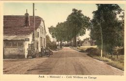 Asch / As : Molendel  -- Café Welkom En Garage --- Oude Moto - As