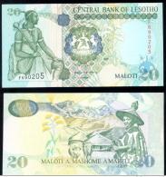 LESOTHO * 20 MALOTI * P 16b YEAR 1999 * UNC BANKNOTE - Lesotho