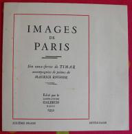 Images De Paris. Eau-forte De Timar + Poème De Maurice Rouhier (Notre-Dame). 1932. Galbrun - Other