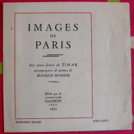 Images De Paris. Eau-forte De Timar + Poème De Maurice Rouhier (pont-neuf). 1932. Galbrun - Other