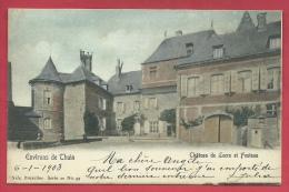 Leers Et Fosteau - Le Château - Jolie Carte Couleur , Envoyée En 1903 ( Voir Verso  ) - Gedinne