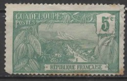 GUADELOUPE 1905  Mount Houllemont, Basse-Terre  - 5c. - Green  FU - Guadeloupe (1884-1947)