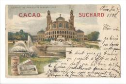 13671 - Exposition Universelle Paris 1900 Palais Du Trocadero Publicité CacaoSuchard 2 Scans - Ausstellungen