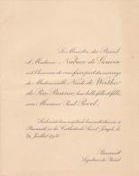 Romania - Bucharest - Le Ministre Du Brasil - 1933 - Announcements
