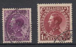 BELGIË - OBP - 1934 - Nr 391 + 393 - Gest//Obl/Us - 1934-1935 Léopold III