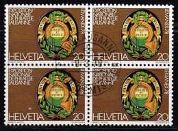 Schweiz 1978, Michel# 1116 O Im Viererblock - Usati
