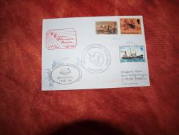 Falkland 1999 Cachets Base Rothera Enveloppe Ayant Voyagé - Territoire Antarctique Britannique  (BAT)