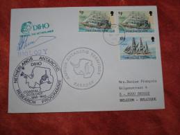 Falkland 1990 Cachets Base Faraday Et Mission Néérlandaise DIHO - Territoire Antarctique Britannique  (BAT)