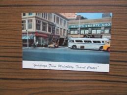 USA              Greetings    From    Waterbury    Travel Center            Voiture      Bus                 2 Scans - Waterbury