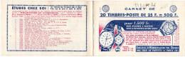 16135# CARNET VIDE S 8-59 SOCIETE HORLOGERIE DOUBS MONTRE ECOLE UNIVERSELLE CALBERSON AVION TRAIN CAMION HERTZ EUROPCARS - Usage Courant