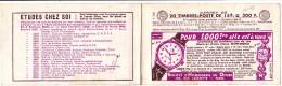 16138# CARNET VIDE S 6-55 SOCIETE HORLOGERIE DOUBS MONTRE ECOLE UNIVERSELLE ESSO STATION SERVICE ROSERAIES PERNET DUCHER - Carnets