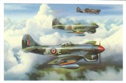 'Tertius Primus Erit'  -  Tempest V  -  Pierre Clostermann  -   (1945)   -  Art Carte Par Benjamin Freudenthal - 1939-1945: 2ème Guerre