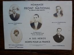 FRONT NATIONAL DE BRUAY SUR ESCAUT COMMANDANT PIERRE CUVELIER - Célébrités