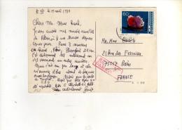 180 :  Beau Timbre Sur Carte , Postcard Du 19/04/1979  Pour La France - 1949 - ... République Populaire