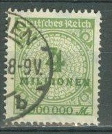 DEUTSCHES REICH 1923: Mi 316 / YT 297, O - KOSTENLOSER VERSAND AB 10 EUO - Allemagne