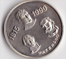 * MEDAILLE WATERLOO*1815-1990*  ISSUE DU SET FDC - Belgique