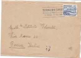 SS - SVIZZERA - TIMBRO PUBBLICITARIO - TOURNEN+SPORT - AUSSTELLUNG HELMHAUS ZURICH - 1952 - FTO 16X12 - STORIA POSTALE - Switzerland